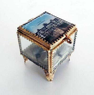 French Antique Brass & Glass Trinket Box – Fontainebleau Palace