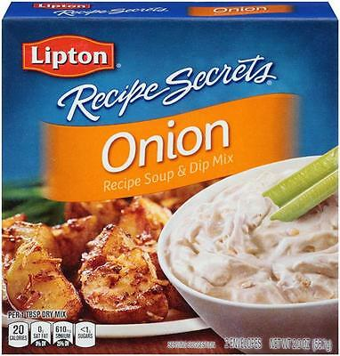 Lipton Recipe Secrets Onion Soup and Dip Mix 3 Boxes 6 Packs Total
