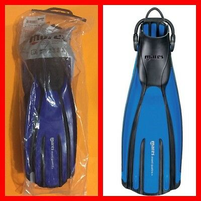 MARES Avanti Quattro + Blue/Black Diving Fins Size XL New with Tags