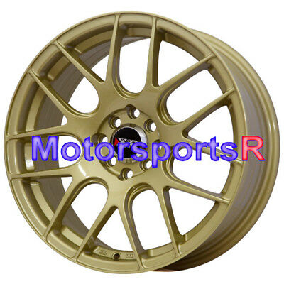 XXR 530 17 17x7 Gold Concave Rims Wheels 4x100 ET +35 Honda Fit Civic Hatch SI