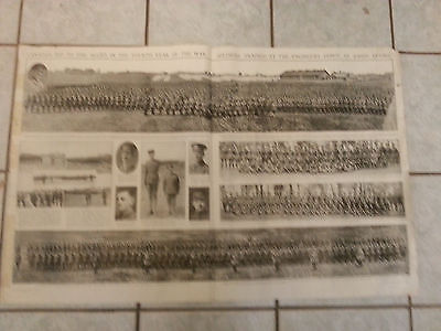 WWI SOLDIERS TRAINED ENGINEERS DEPOT ST JOHNS QUEBEC 1918 Newspaper insert 3x2