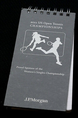 2011 US Open Tennis J.P. Morgan reporter's notebook hardcover