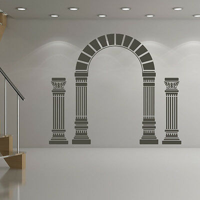 Greek Columns Wall Sticker Ancient Greece Wall Decal Bedroom School Home Decor