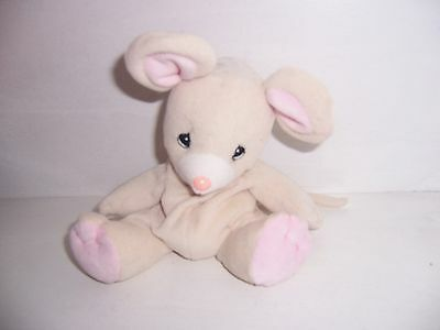 Precious Moments Tender Tails Plush Beige Mouse 1999