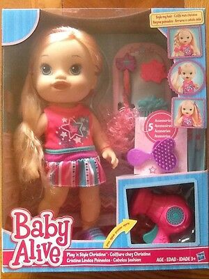 Baby Alive Play 'N Style Christina Blonde