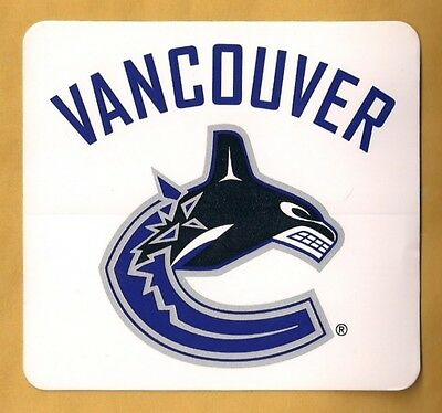 """Vancouver Canucks NHL Team-Issued Logo Decal Sticker 4"""" x 3.75"""""""