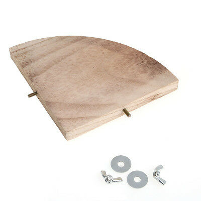 Wooden Pet Parrot Platform Stand Rack Toy Hamster Branch Perches For Bird Cage