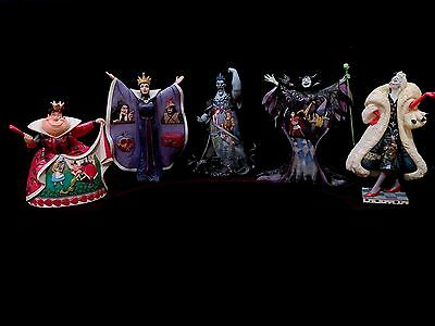 Disney Traditions Villains Collectible 5-Piece Set-Maleficent, Red Queen,Cruella