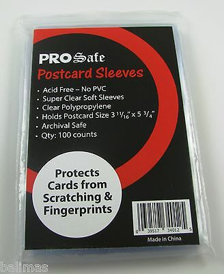 5000 5,000 PRO SAFE Premium Postcard Sleeves Wholesale Lot - FREE Shipping!