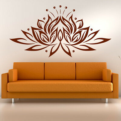 Lotus Flower Wall Sticker Floral Wall Decal Buddhism Home Decor