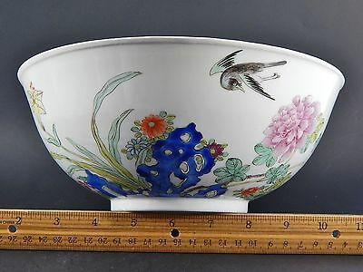 Antique Chinese Famille Rose Bowl with Flared Everted Edge Rim 19th/20th C.