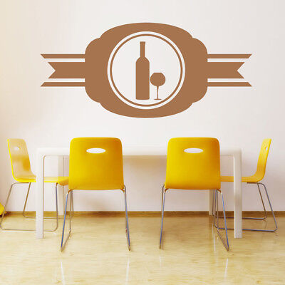 Wine Badge Wine Bottle Glass Food And Drink Wall Stickers Kitchen Art Decals