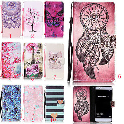 Flip Magnetic Leather Wallet Card Slot TPU Case Cover Stand For Huawei&Honor