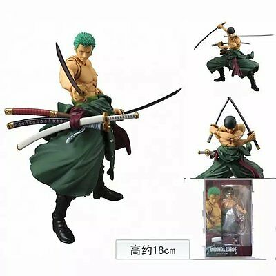 7'' Figma Anime One Piece Roronoa Zoro Movable Action Figure Toy Figurine Doll