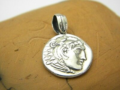 sterling silver Alexander the great pendant coin medallion