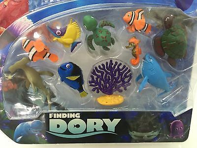 Finding Dory Nemo 5-7cm tall 10 FIGURINE FIGURE Playset cake topper