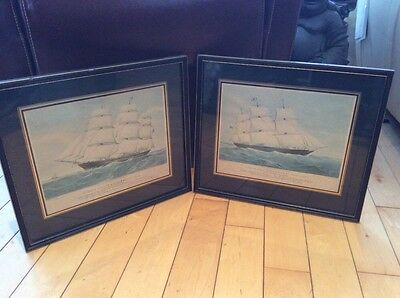 "Antique Prints Of Clipper Ship ""Mirzapore"" And ""Taeping"""