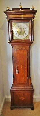 8 day longcase grandfather clock penny moon 8 bells