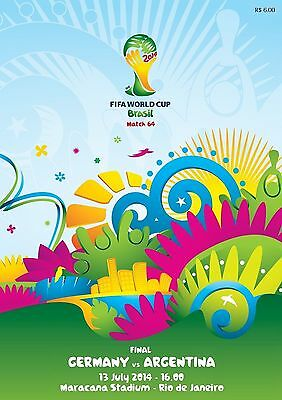 2014 WORLD CUP FINAL PROGRAMME GERMANY v ARGENTINA