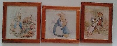Dolls House Beatrix Potter character's pictures x 3
