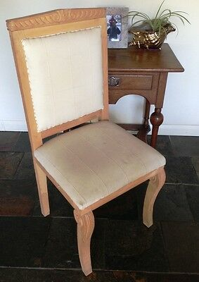 Decorative Antique Style Carved French Bedroom Chair - Re-Upholstery Project