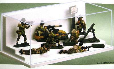 Dust cover Display counter Showcase Figurines Soldiers 1/35 1/18 232x120x86mm ws