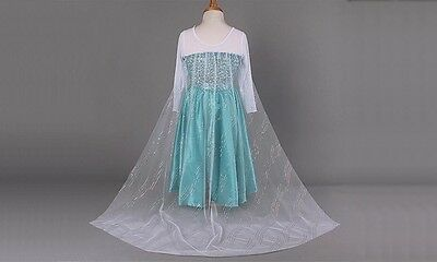 Ice Princess Dress Costume, Long Sleeved, Embellished Jewels, Sequin trail