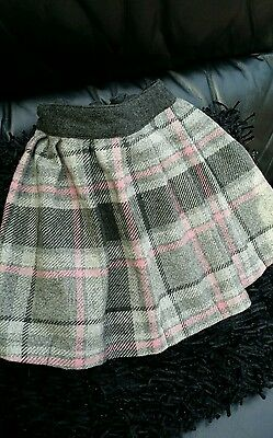 Next age 5 Yrs Wool Check Print Skirt height 110cm Lovely Warm fabric nice