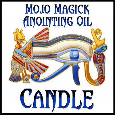 Mojo Magick Candle Anointing Essential Oil Hoodoo Wicca -