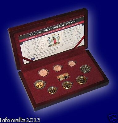 2008 Malta Euro Coin Official Coin Set with Certificate Limited First Edition