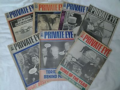 """""""THE PRIVATE EYE"""" magazines, collection of 7, all from 1986"""