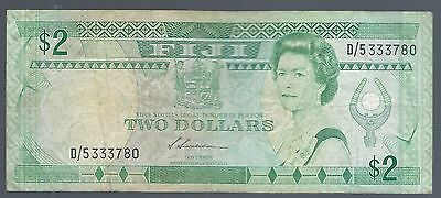 FIJI 2 DOLLARS ND 1988  P-87a