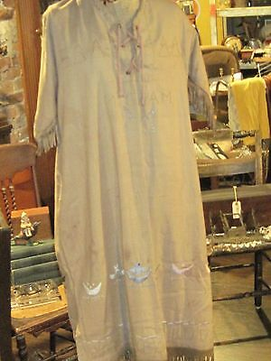 Vintage Native American decorated Campfire dress 1920 Camp Tatapochon