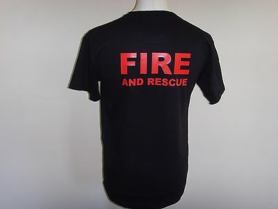 Fire And Rescue Service Red Print - Ukfrs - Fire Brigade Printed T Shirts