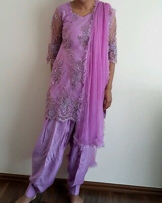 Womens lilac punjabi suit