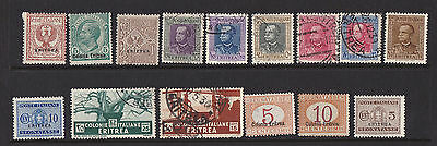 Eritrea (Italian) small collection of stamps.
