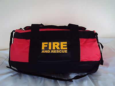 Fire & Rescue Printed Holdall Yellow Print Work Bag-Emergency Services
