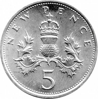 1990-2016 Uk Gb Decimal 5P Five Pence Coins - Select Dates From List