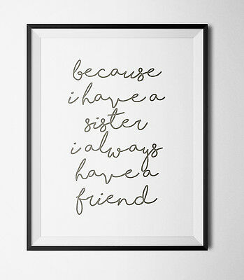 Inspirational Quote Print A4  - Typography -Decor -gift -wall decor