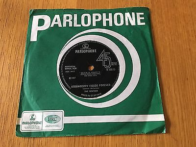 """Beatles - Strawberry Fields Forever / Penny Lane - 1967 7"""" Ex Condition"""