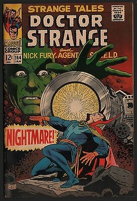 Strange Tales #164 VF+ 8.5 Off White Pages