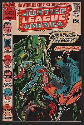 Justice League of America #87 NM- 9.2 White Pages