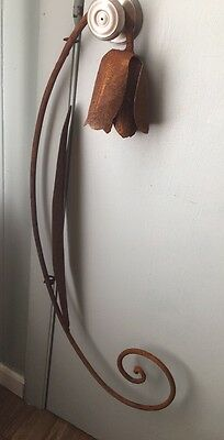 vintage metal garden yard art rusty rust flower tulip rose large