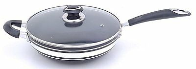 Non Stick Wok With Glass Lid 24 26 28cm 30cm 32cm Wok  by Royal Cuisine