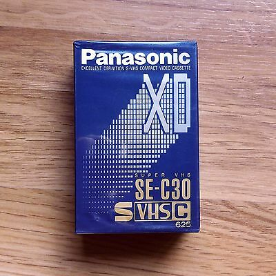 PANASONIC SE-C30 Super VHS-C Compact Tape Camera Blank Sealed / Cinta Camara
