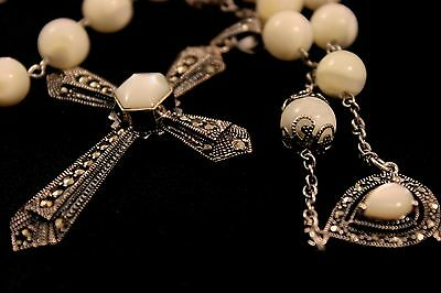 Rosary Sterling silver and White shell