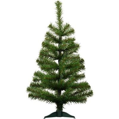 2ft (60cm) Artificial Pine Traditional Christmas / Xmas Tree With Stand Festive