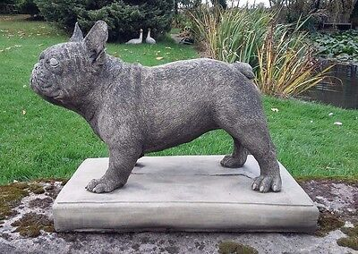 Stone Garden Large French Bulldog Frenchie Dog Statue Ornament