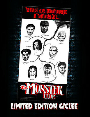 The Monster Club Vincent Price poster canvas Giclee Carradine MONSTARZ