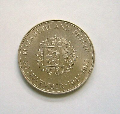 Great Britain 25 New Pence 1972, Royal Silver Wedding Anniversary